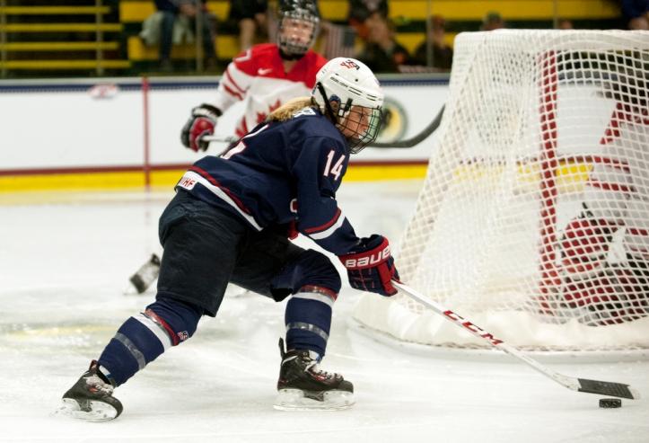 Canada vs. USA Women's Hockey 10/12/13