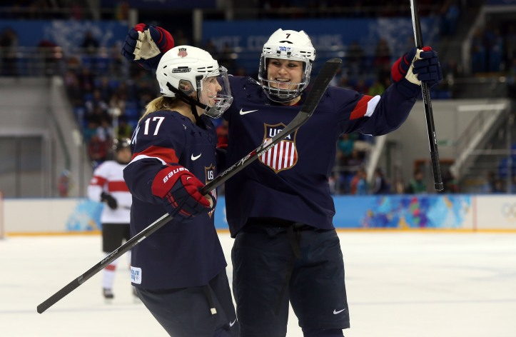 Olympics: Ice Hockey-Women's Prelim Round-USA vs SUI