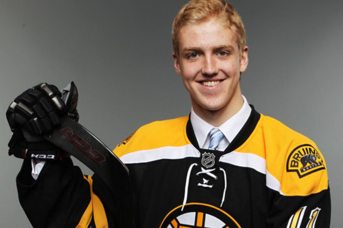 ST PAUL, MN - JUNE 24:  Ninth overall pick Dougie Hamilton by the Boston Bruins poses for a photo portrait during day one of the 2011 NHL Entry Draft at Xcel Energy Center on June 24, 2011 in St Paul, Minnesota.  (Photo by Nick Laham/Getty Images)